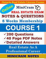 OREA REAL ESTATE EXAM STUDY NOTES,  PRACTICE QUESTIONS