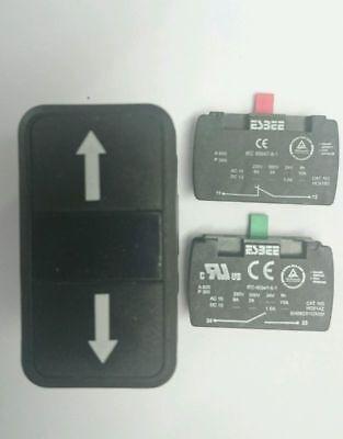 10 x ESBEE Twin Push Button Up and Down Arrow + 20 x contact blocks n/o n/c
