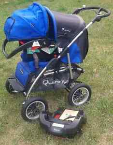 Quinny 4 XL Travel System - Stroller, Carseat, Base, and Mannual Peterborough Peterborough Area image 1