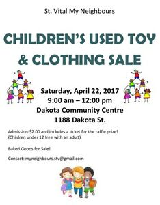 St. Vital My Neighbours Children's Used Toy and Clothing Sale