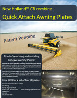 Quick Attach Awning plates for New Holland CR combines - Special