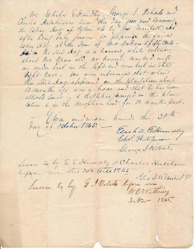 Elisha Estes HUNDLEY / Document signed