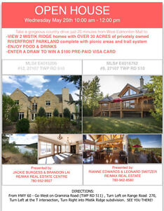 OPEN HOUSE WEDNESDAY MAY 25TH 10am-12pm- 2 HOMES TO VIEW!!!
