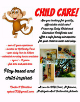 Home daycare spaces available McCarthy Park