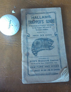 Hallams Trapper's Guide, Copyright 1912 Kitchener / Waterloo Kitchener Area image 1
