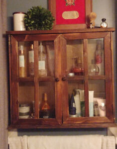 Rustic wall cabinet