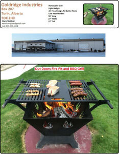 Fire pit with removable grill