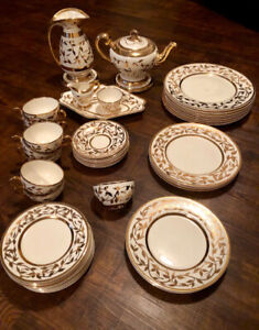 Myott & Son Hand Painted Gold China