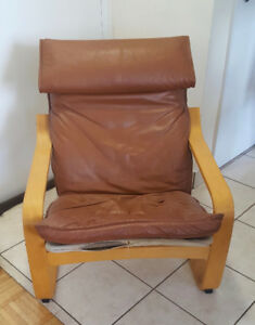 Vintage Poang Arm Chair & Stool
