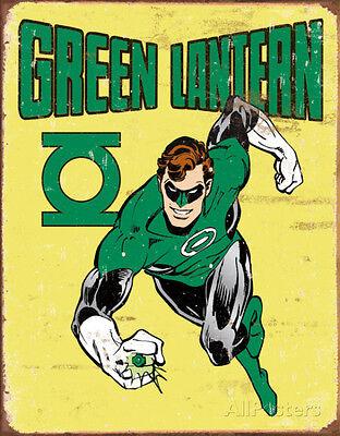 Green Lantern Retro Tin Sign - 16x12.5