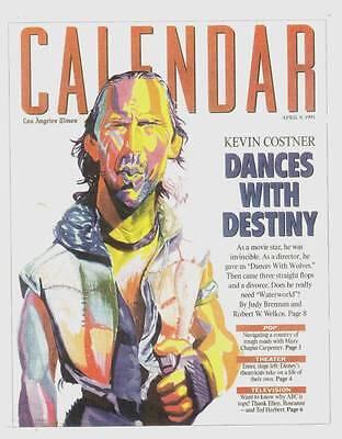 L A  Times Calendar Magazine April 9  1995   Kevin Costner  Jules Feiffer