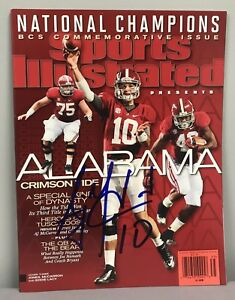 AJ A.J. McCarron SIGNED Sports Illustrated Magazine BCS SI Alabama Football COA