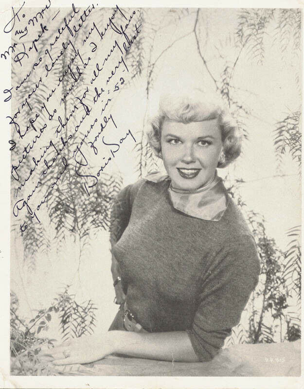 DORIS DAY - AUTOGRAPHED INSCRIBED PHOTOGRAPH 1952