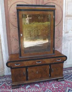 Mobiletto-con-vetrina-epoca-Deco-039-in-radica-di-noce