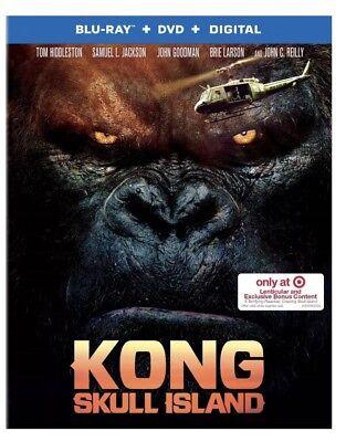 Kong  Skull Island W  Lenticular Packaging Blu Ray Dvd Digital  Target Exclusive
