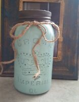 Vintage Crown Mason Jar Bank