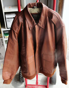 US Military Flyers Leather Jacket Style A2 Big Tall 3XL Size!