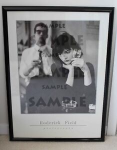 Bar by Roderick Field Fine Art Black and White Poster Framed