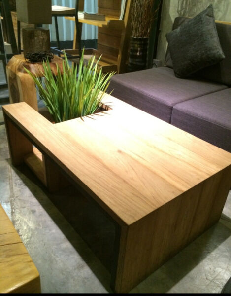 Modern teak coffee table, custom made in Thailand! Never ...