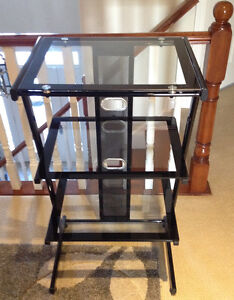 Glass Book Case / Media Stand / Printer Stand $75