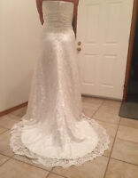 New Size 12 Impression Bridal Lace Wedding Dress