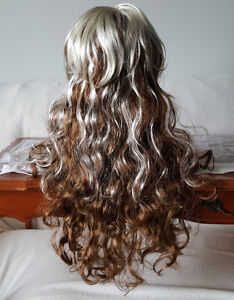 Light Brown Wavy Curly Long Hair Wig with White Streaks (1) St. John's Newfoundland image 5