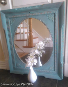 Beautiful Restyled Mirror, Annie Sloan Provence