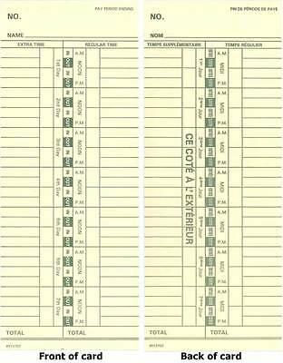 500 Royal Tc100 Time Recorder Timeclock Cards Timecards