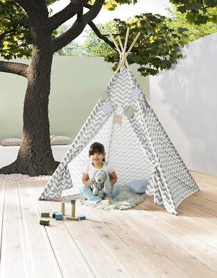 Tipi Kinderzelt Spielzelt Indianerzelt Zelt Kinderzimmer Wimpelkette  Indianer
