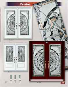 WROUGHT IRON & DECORATIVE GLASS DOOR INSERTS(catalog link below)