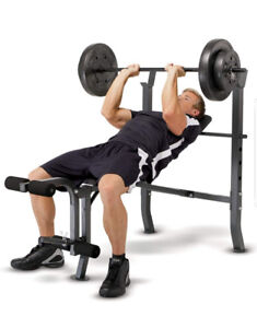 Marcy standard bench with 100lb weight set