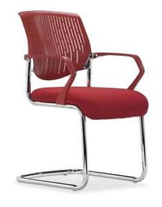 Zuo Synergy Sled Conference Chair -(Red)-PAIR