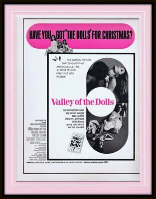 ORIGINAL Vintage 1967 Valley of the Dolls 11x14 Framed Advertisement