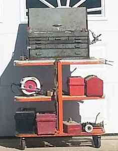 Tool Stand with Assortment of Tools and Boxes Kawartha Lakes Peterborough Area image 1