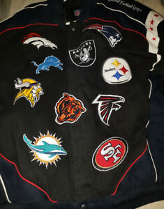 NFL Unisex  Jacket All The Team Decals