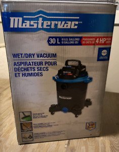 Save over $40+taxes. New Mastervac 30L, 4 HP Wet-dry Vacuum