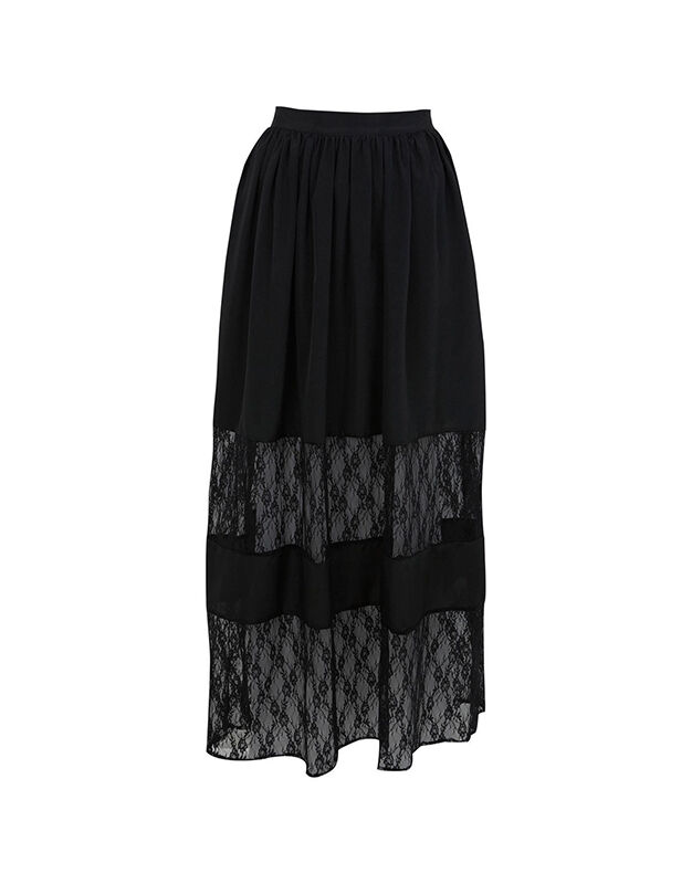 Miss Selfridge Plisse Maxi-Skirt