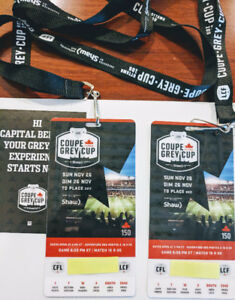 2 PREMIUM TICKETS GREY CUP 2017