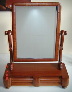 Lovely Antique English Mahogany Shaving/Vanity/ Mirror - 1800's