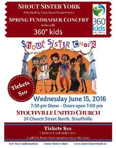 Shout Sister Fundraiser Concert for 360°Kids