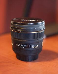 Sigma 50/1.4 DG HSM Lens, Canon Mount
