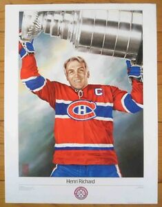 ** HENRI RICHARD MONTREAL CANADIENS ~ NHL Original 6 Poster 1988