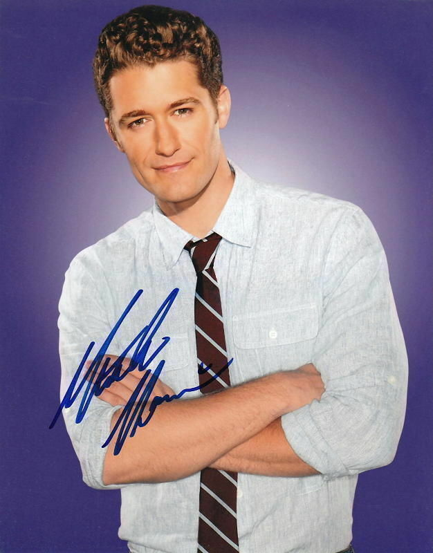 MATTHEW MORRISON.. Glee's Studly Schuester - SIGNED