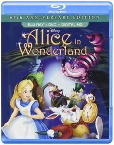 DISNEY ALICE IN WONDERLAND BLURAY DVD DIGITAL COMBO BRAND NEW