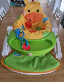 Fisher price sit me up giraffe chair baby