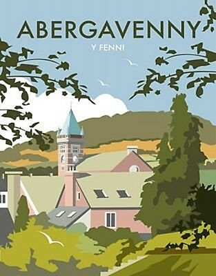 Abergavenny fridge magnet by Dave Thompson (se)