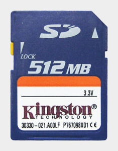 Kingston 512MB Secure Memory Card