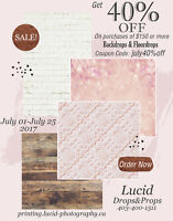 40% OFF backdrops/Floordrops *JULY ONLY*