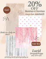 20% OFF Backdrops and Floordrops!