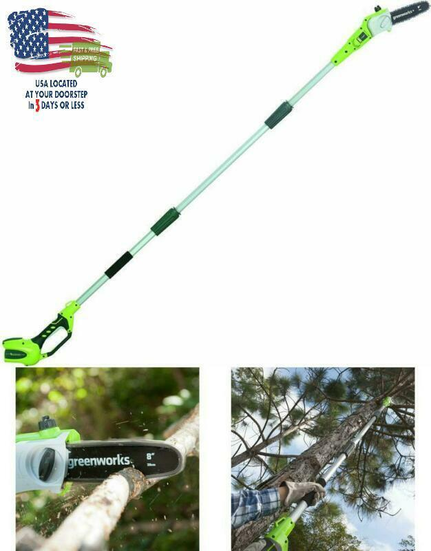 Cordless Electric Pole Saw 8 inch 40 Volt Easy Adjust Chain